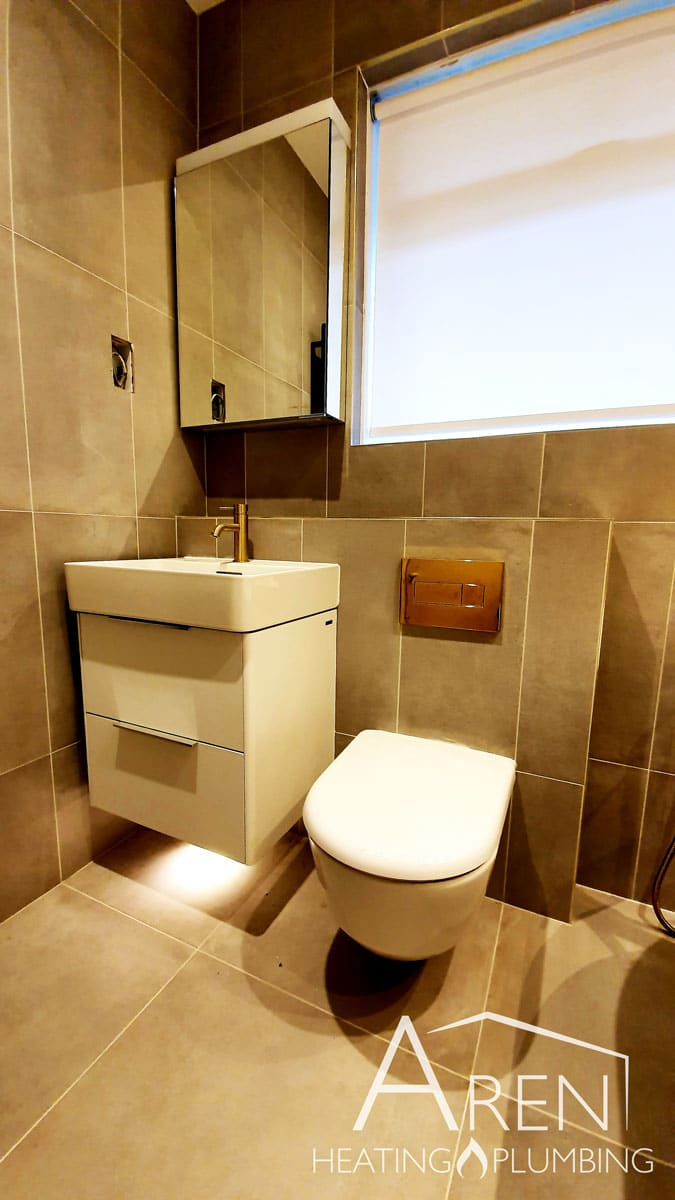 aren heating and plumbing bathroom installation