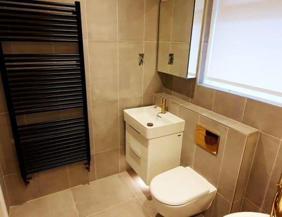 aren heating and plumbing bathroom installation